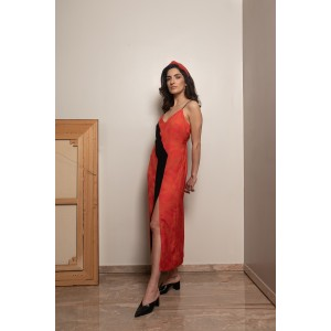 Bitter Cocoa Resort Wear Erevos Midi Line Dress Type