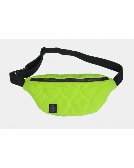 Bleecker & Love Hearts Neon Yellow Mini Τσάντα Ζώνη