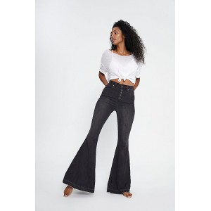 Free People Irreplaceable Flare Jeans Galaxy Black