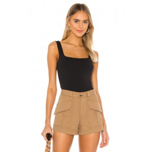 Free People Square Off Cami Black