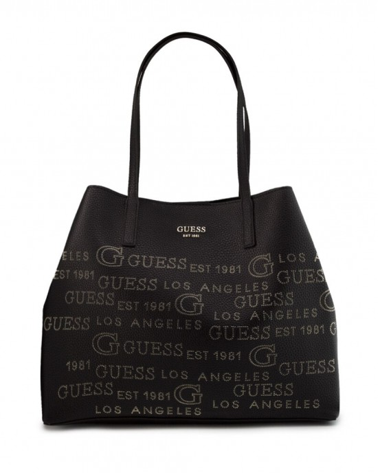 Guess Vikky Large Shopper With Pochette Black