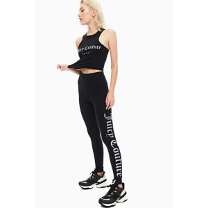 Juicy Couture Charlotte Legging Mirror Silver Foil Print Black