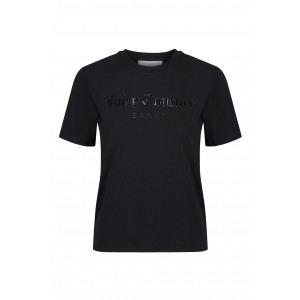 Juicy Couture Cora Tee Raised Embossed Logo Black