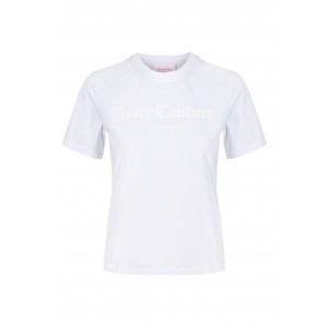 Juicy Couture Cora Tee Raised Embossed Logo White