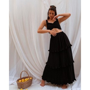 Melitta Doric Set Crop Top And Maxi Skirt