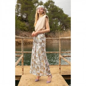 Nazezhda Geometric Sequin Loose Pants