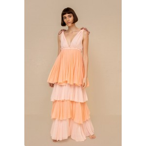 Pitusa Alma Dress Pimrose Pink Peach