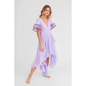 Pitusa Multi Flare Dress Orchid Ice