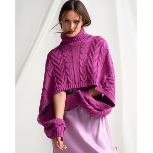 Tailor Made Knitwear Oversized Magenda