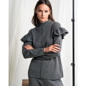 Tailor Made Knitwear Grey Volan Sweater