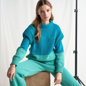 Tailor Made Knitwear Oversized Two Colors Sweater Alcohol