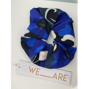WE_ARE Scrunchies Abstract Floral Blue