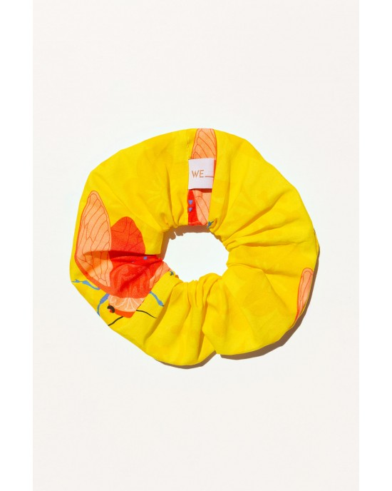 WE_ARE 90s Nostalgia Collection Scrunchies Τζιτζίκια Κίτρινο