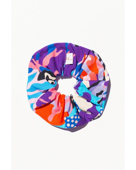 WE_ARE 90s Nostalgia Collection Scrunchies Psychedelia Μπλε