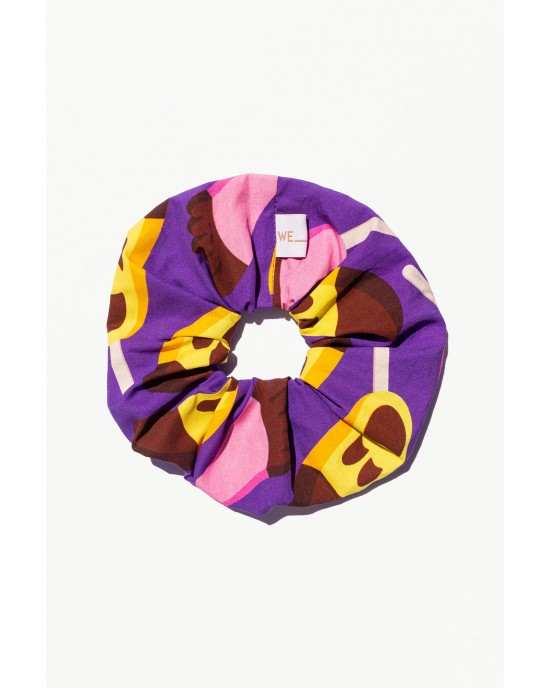 WE_ARE 90s Nostalgia Collection Scrunchies Ice Creams Μοβ
