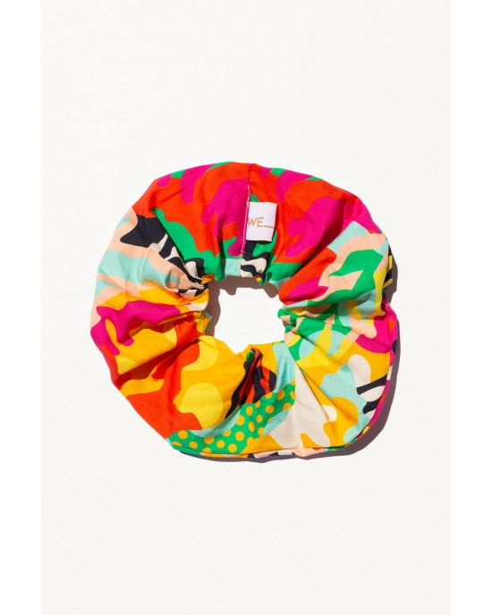 WE_ARE 90s Nostalgia Collection Scrunchies Psychedelia Πράσινο
