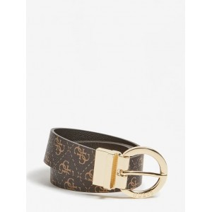 Guess Esme Reversible Logo Belt Brown