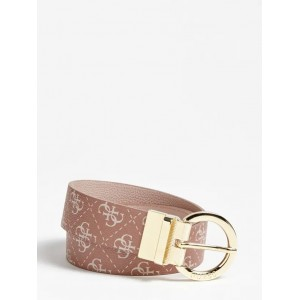 Guess Esme Reversible Logo Belt Pink