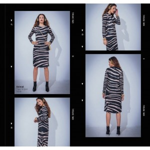 Type Love Animal Tiger Stripes Nude Dress