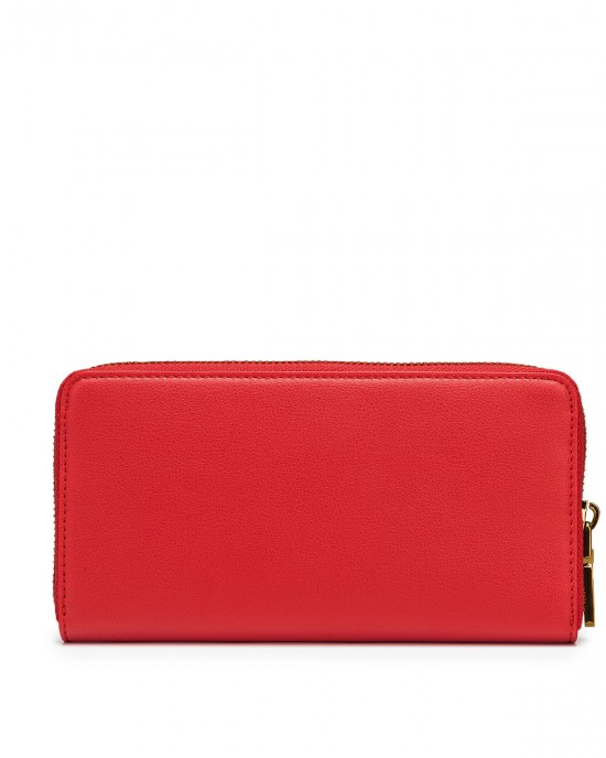 Love Moschino Zip Around Wallet With Logo Red