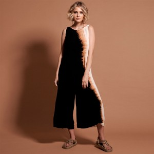 Oneteaspoon Africa Kokomo Black Tobacco Jumpsuit