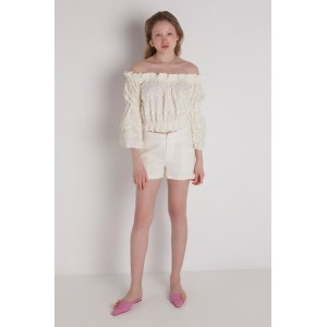 Stefania Vaidani CALISTO EMBROIDERY TOP