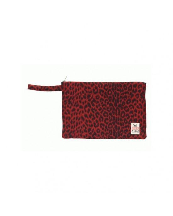Bleecker & Love Leopard Κόκκινο Μικρό