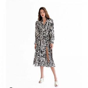 Twenty 29 Maxi Plise Dress Animal Print